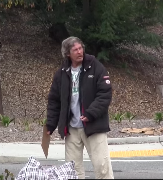 How does a homeless man spend $100