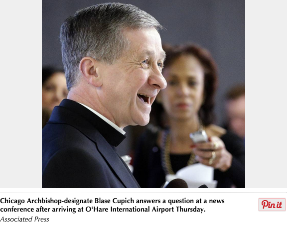 Archbishop Cupich, Pope Francis and St.Vincent