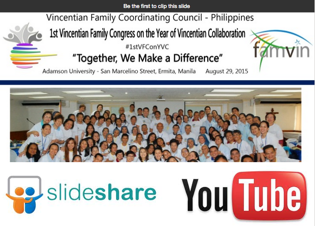 Presenting Visually: Vincentian Family Philippines