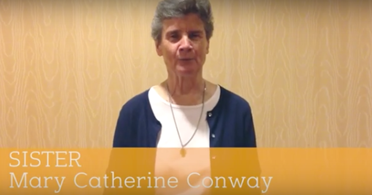 60 seconds with Sr. Mary Catherine Conway, DC