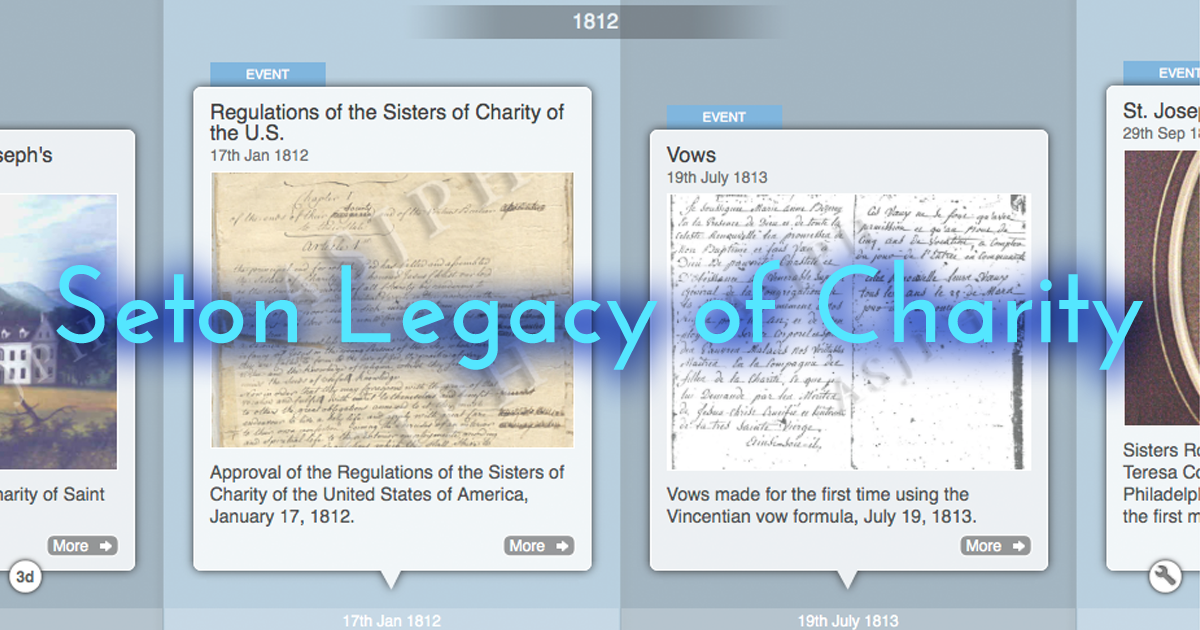 July 19, 1813: Sisters of Charity of St. Joseph's Pronounce Vows