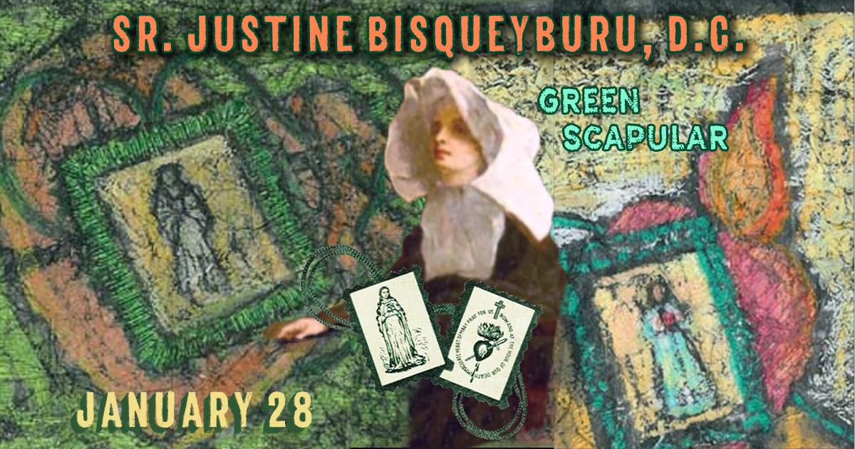 Sr. Justine Bisqueyburu, D.C. and the Green Scapular
