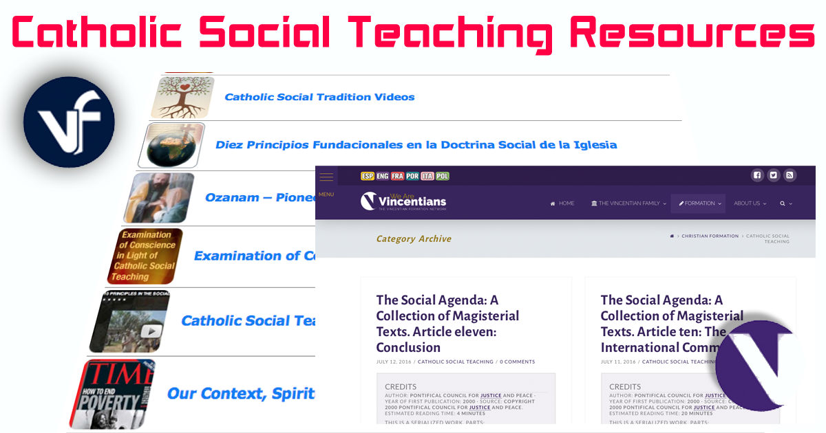 .famvin Resources on Catholic Social Teaching