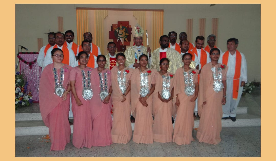 Eight Sisters Make Vows in Mokama, India