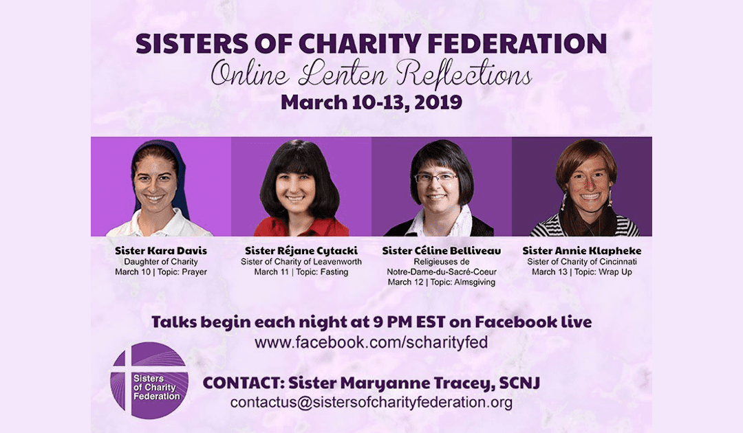 Sisters of Charity Federation Lenten Video Reflections