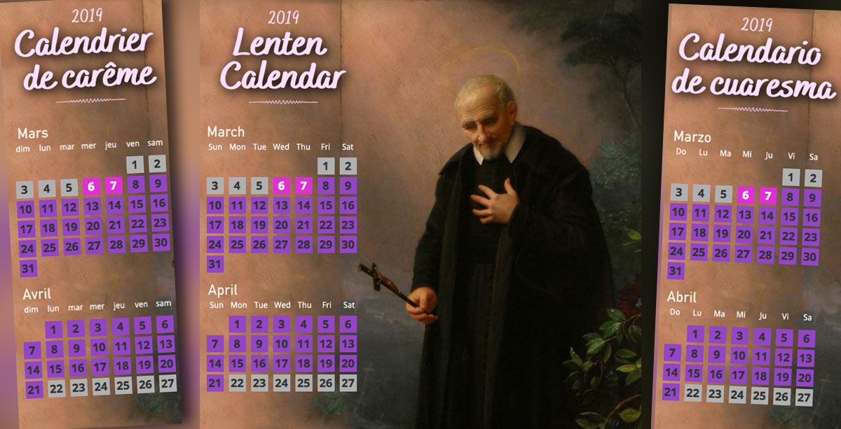 2019 Lenten Calendar