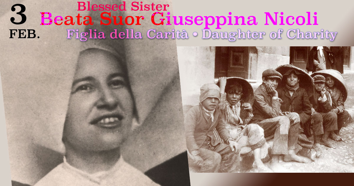 February 3: Blessed Giuseppina Nicoli, D.C.