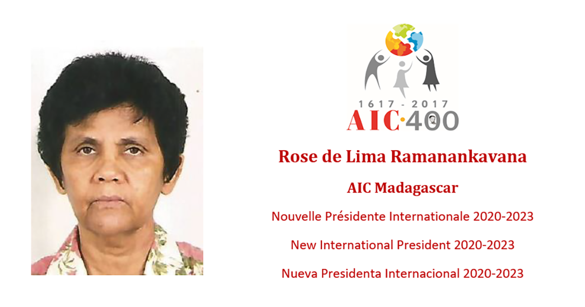 Rose de Lima Ramanankavana (Madagascar), New President of the International Association of Charity