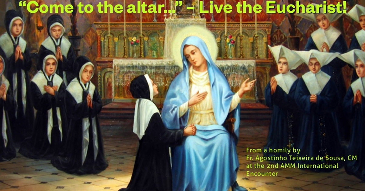 """The Message of the Miraculous Medal: """"Come to the altar""""… Live the Eucharist!"""