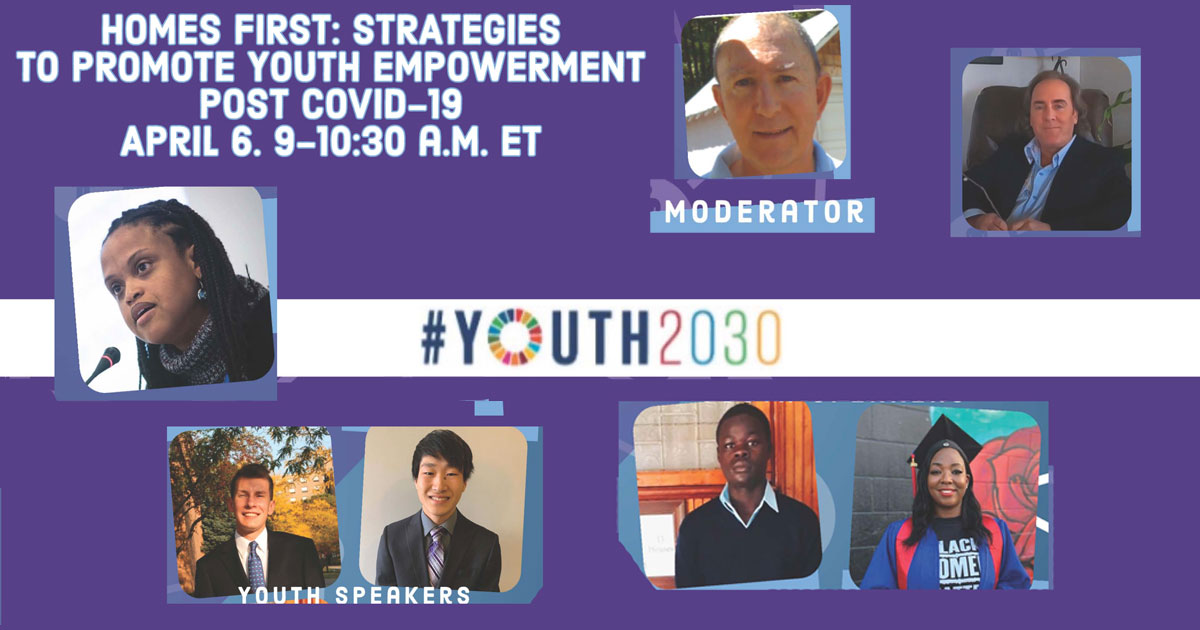 Join the Vincentian Family on April 6 for U.N. #Youth2030 Event