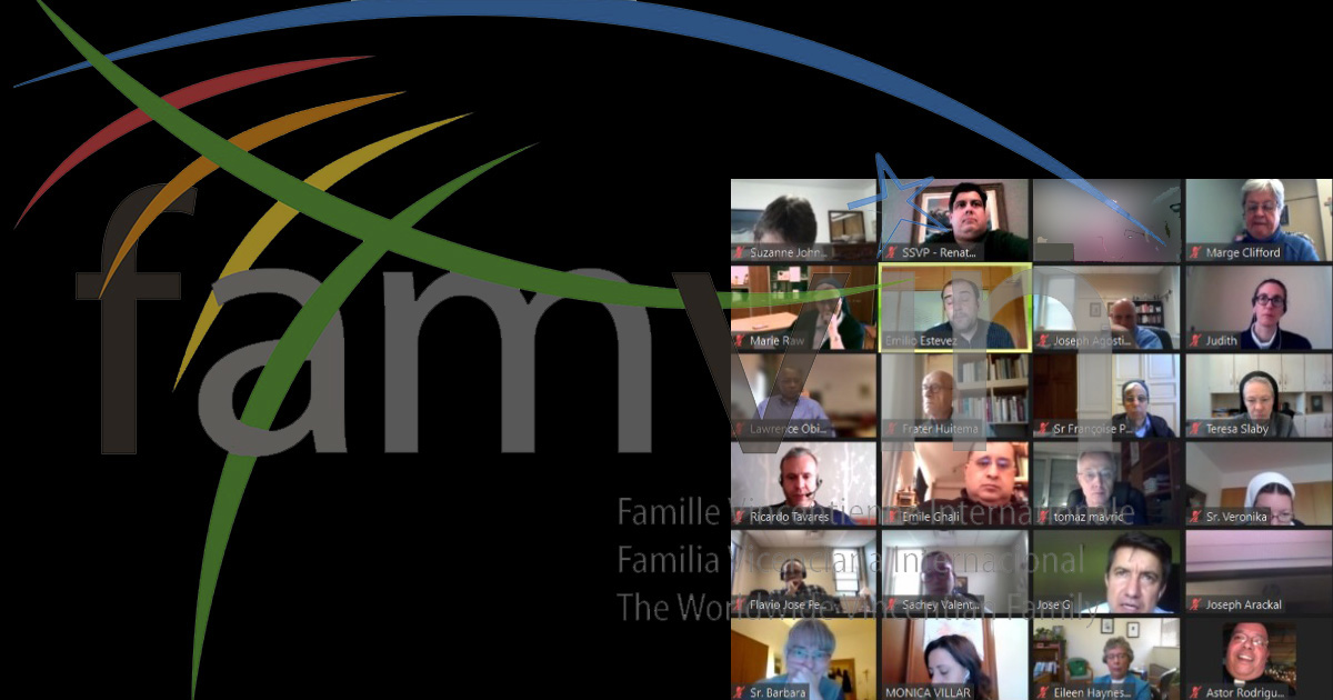The Executive Committee of the Vincentian Family Meets Virtually