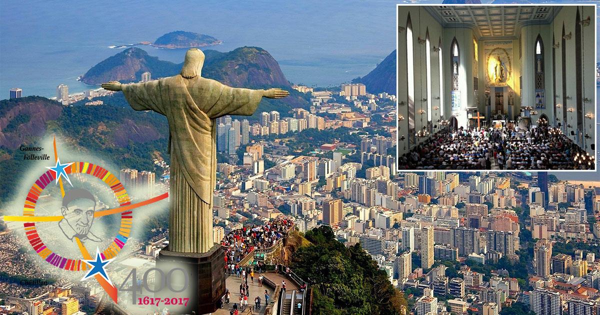 Calendario de las celebraciones de los 400 años del Carisma Vicenciano, en la región de Río de Janeiro (Brasil)