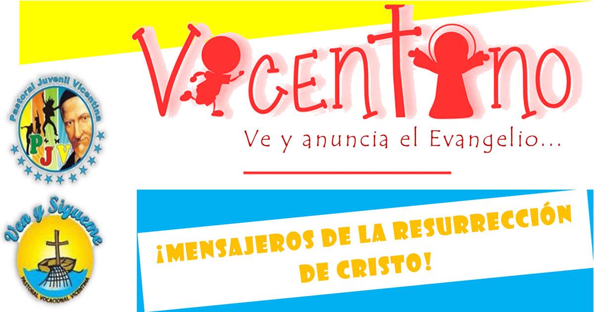 Vicentino: ¡vive el Tiempo Pascual! (fichas para jóvenes)