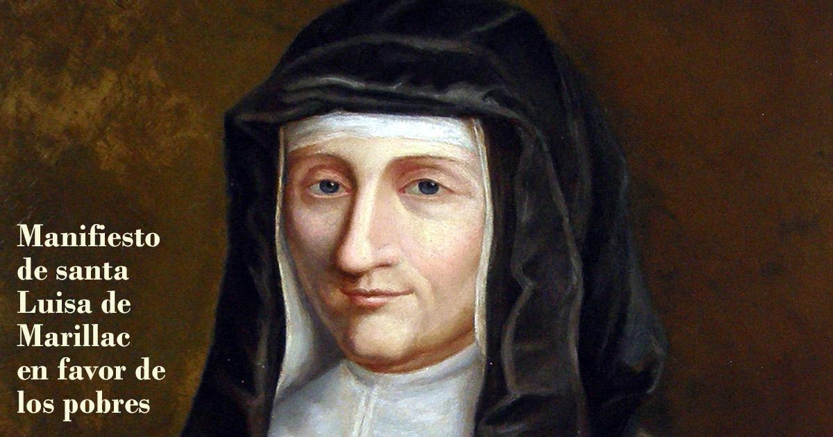 Manifiesto de santa Luisa de Marillac en favor de los pobres