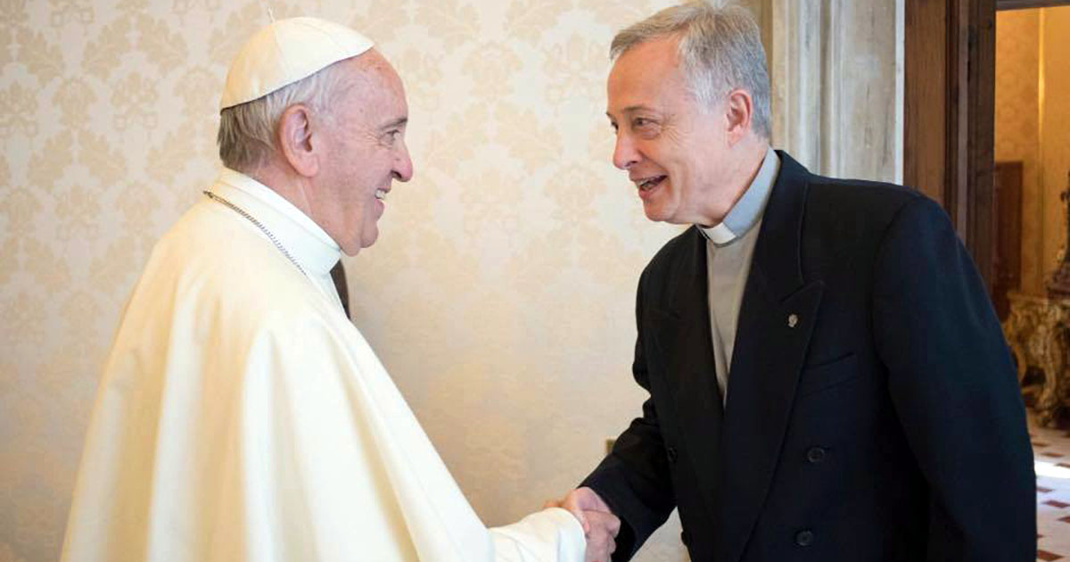 El Papa Francisco recibe a Tomaž Mavrič, CM, Superior General