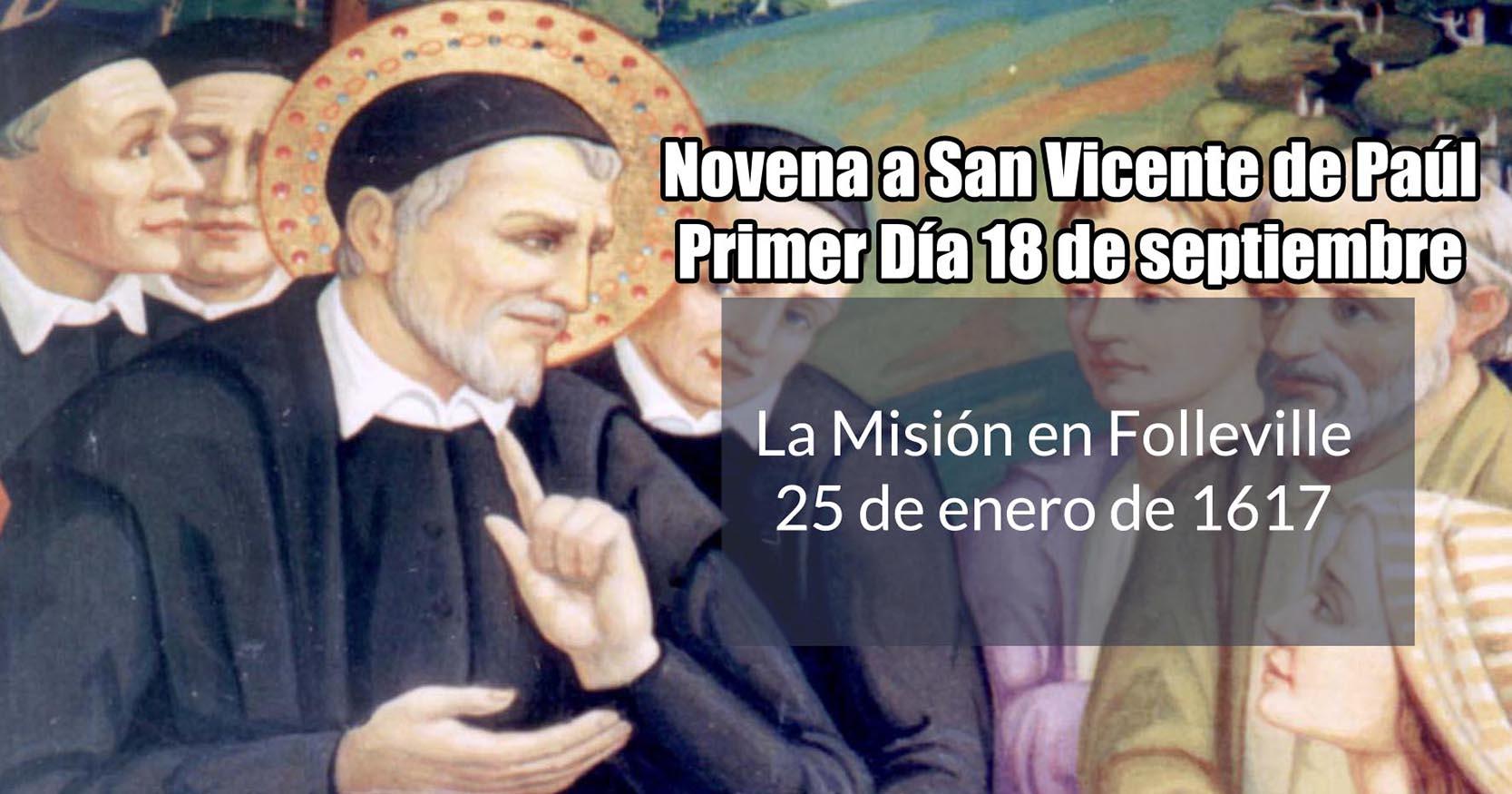 Novena a San Vicente de Paúl: Primer Día