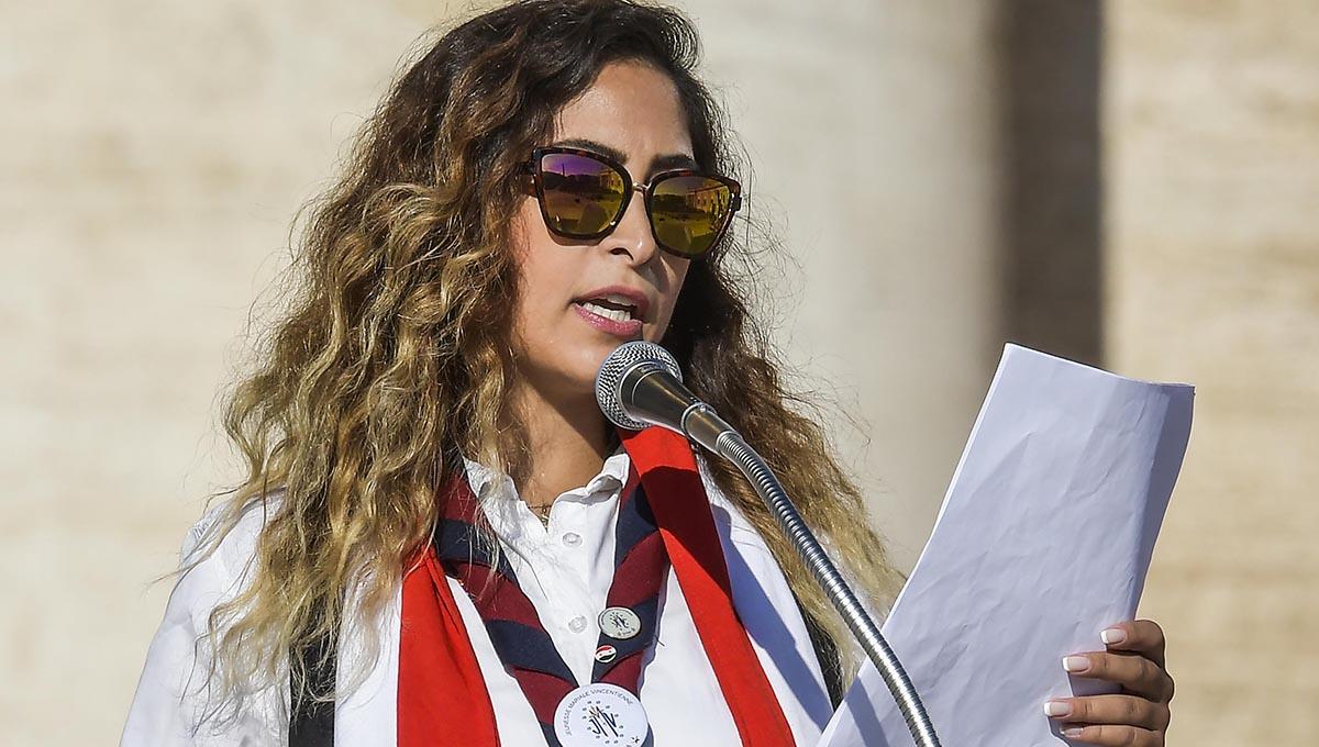 Aida Baladi: testimonio de una vicenciana siria durante la audiencia con el Santo Padre