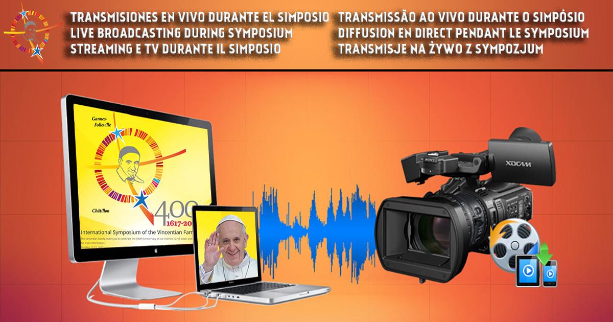 Transmisiones en vivo durante el Simposio, días 14 y 15