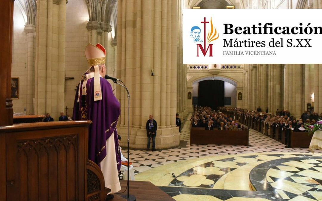 Acción de gracias en la eucaristía tras la beatificación de los 60 mártires