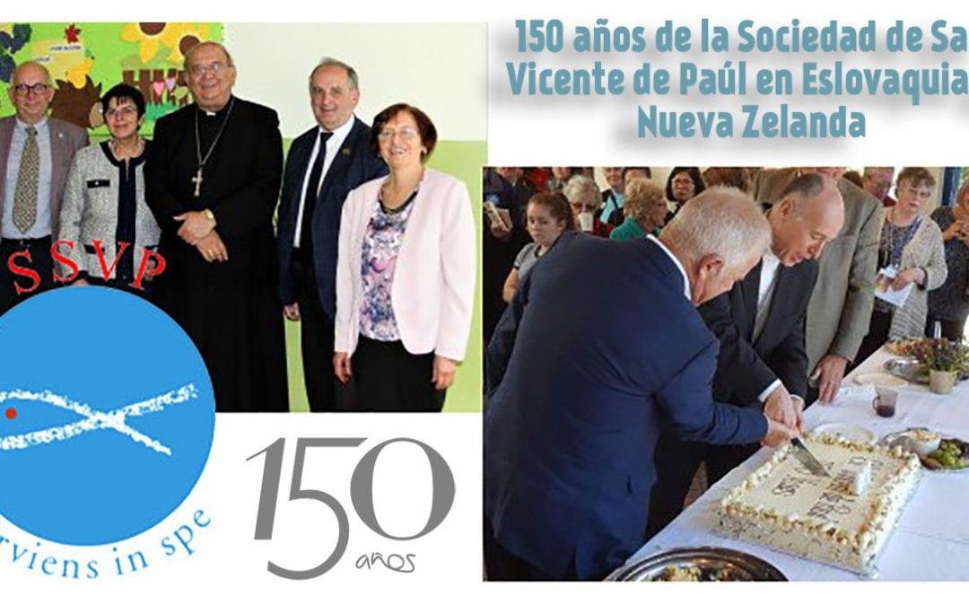 150 años de la Sociedad de San Vicente de Paúl en Eslovaquia y Nueva Zelanda