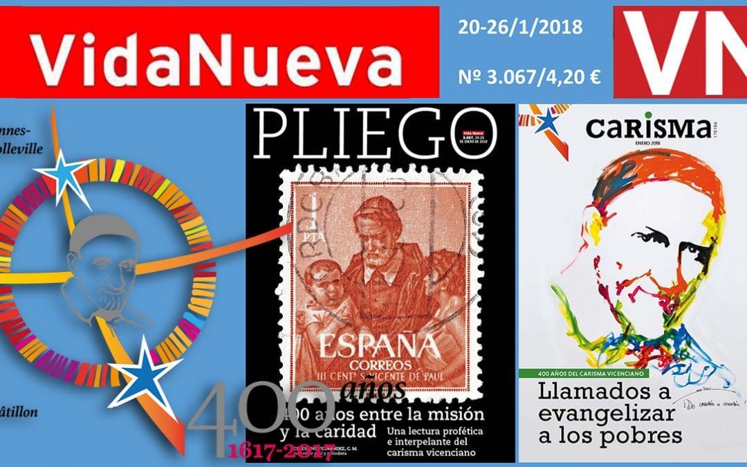 """La revista """"Vida Nueva"""" publica un encarte y un pliego en torno al Carisma Vicenciano"""