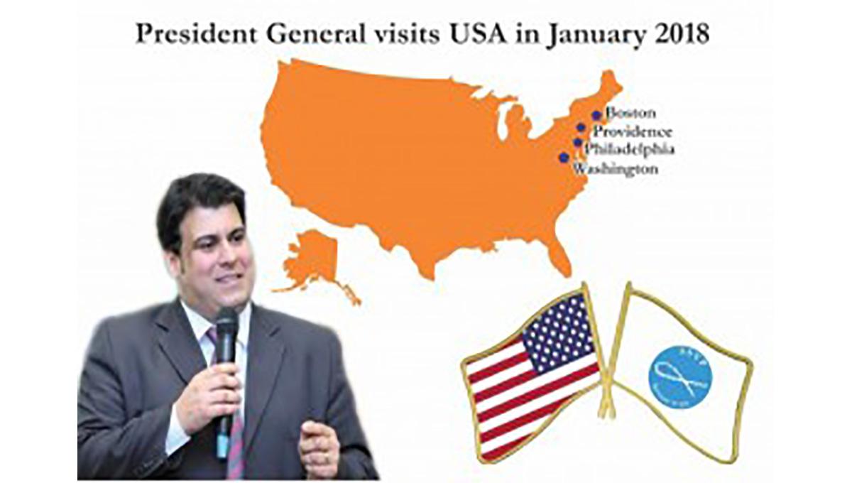 El Presidente General de la SSVP visita los Estados Unidos de América