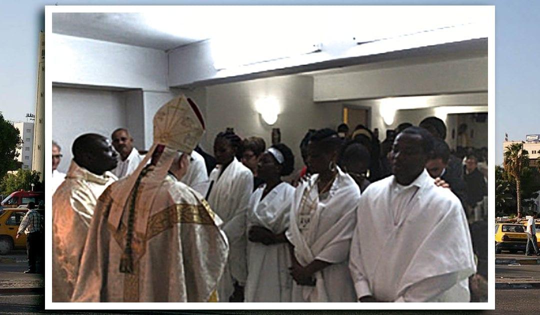 Nuevos miembros de la Comunidad Cristiana en Sfax, Túnez