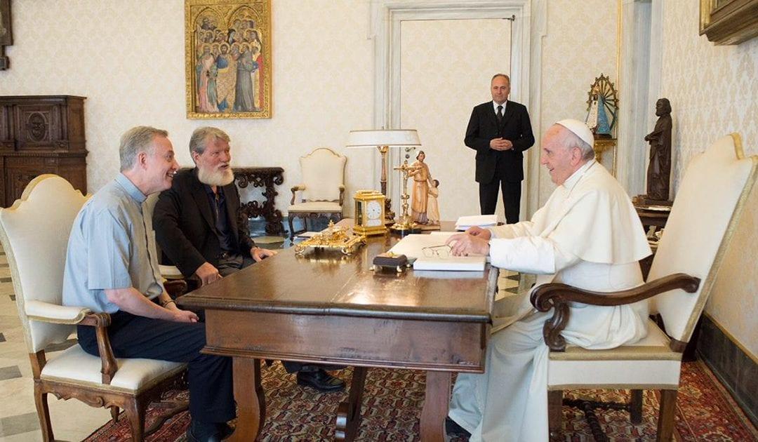 Audiencia del padre Pedro Opeka, C.M., con el papa Francisco