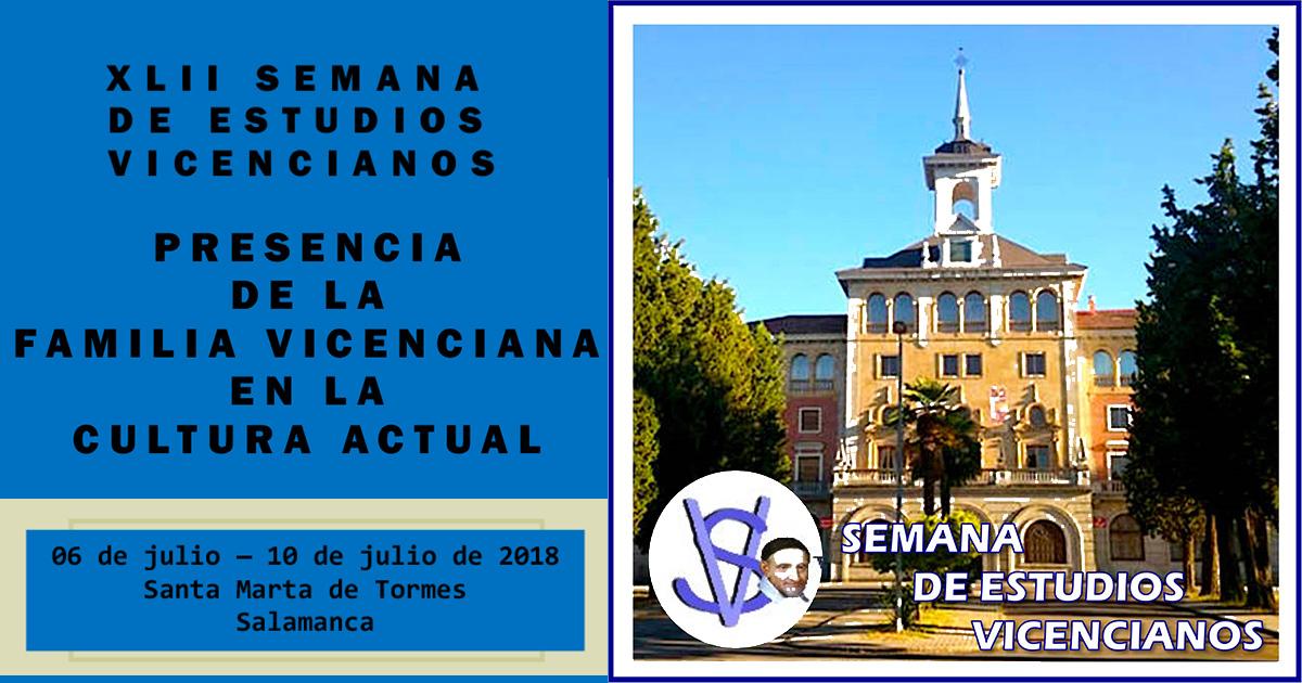 Se acerca la XLII Semana de Estudios Vicencianos, en Salamanca (España)