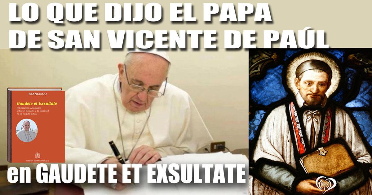 Lo que dijo el papa de san Vicente de Paúl