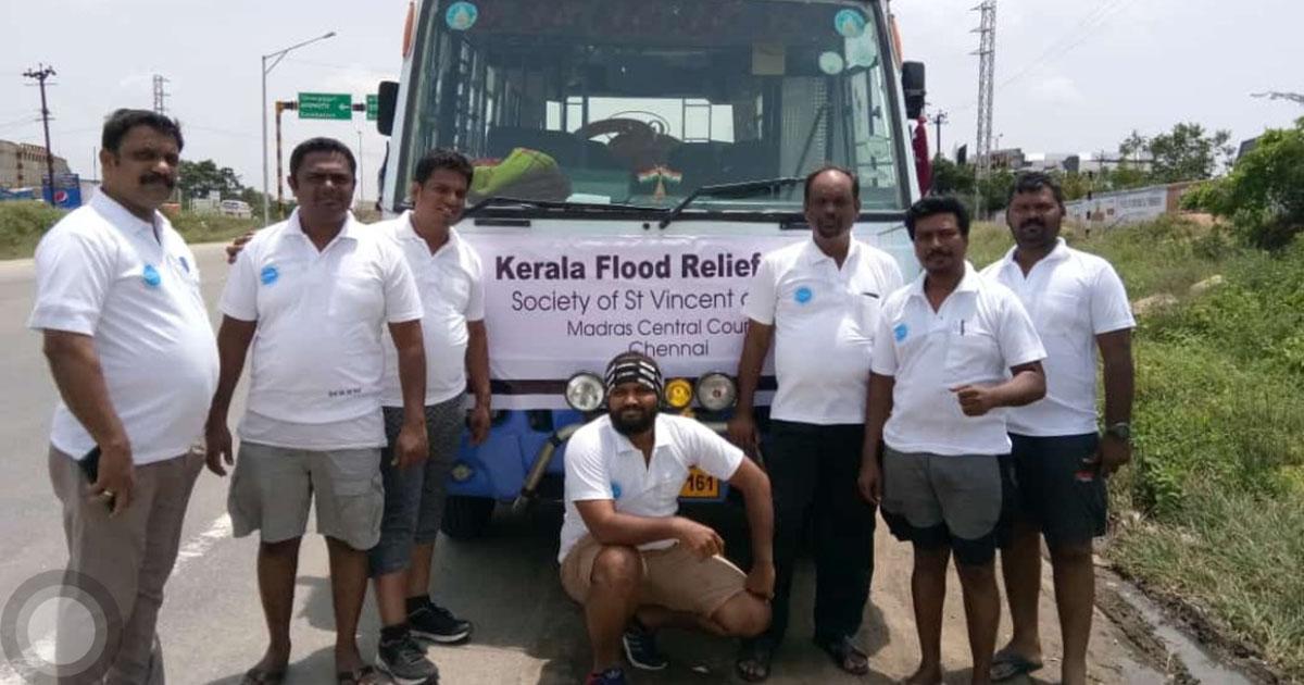 Grandes inundaciones en Kerala, India