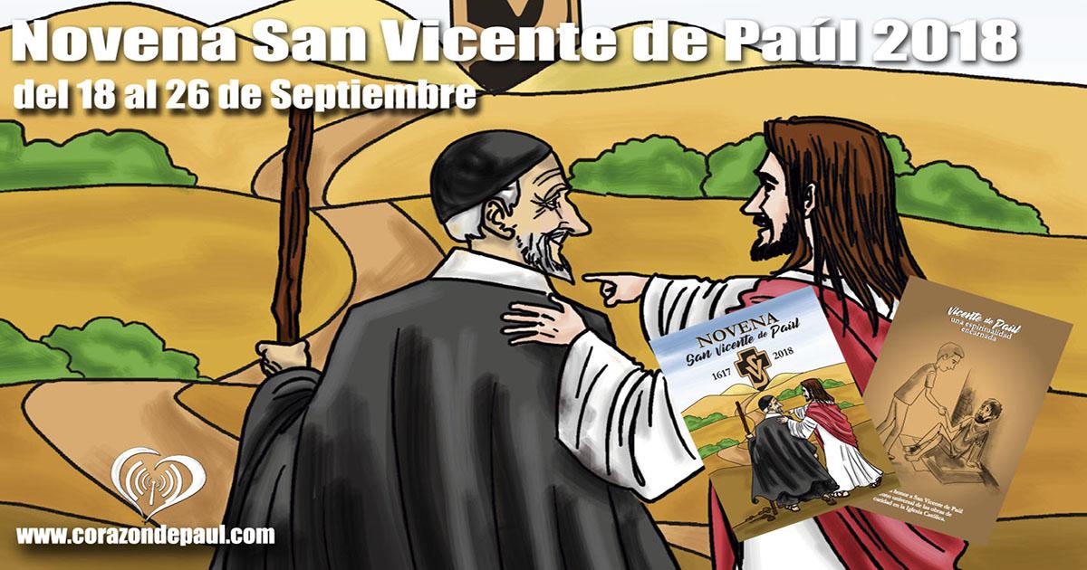 Novena completa a San Vicente de Paúl para 2018