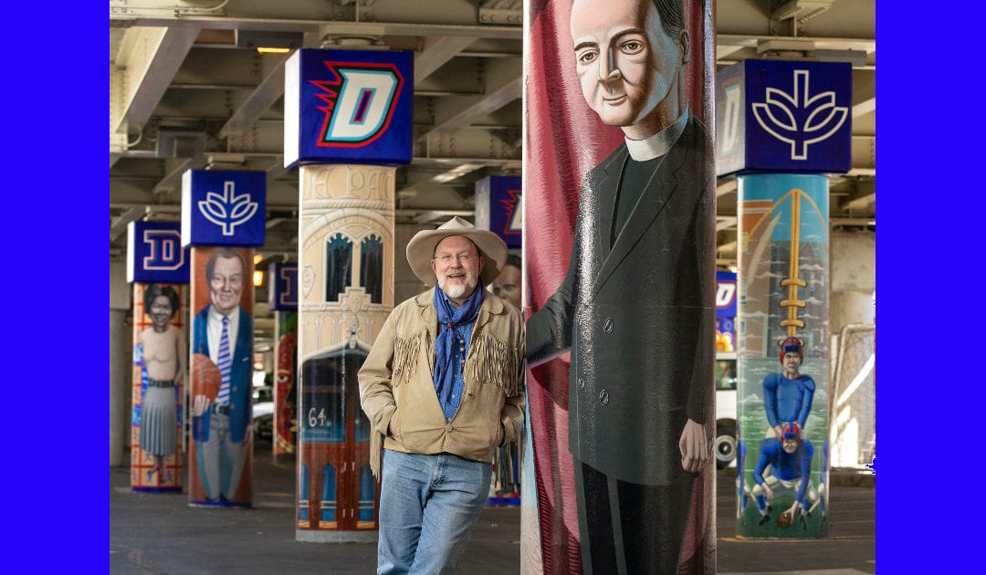 """Cuatro nuevos murales en la estación """"L"""" de Fullerton exploran los momentos clave de la historia de Depaul"""