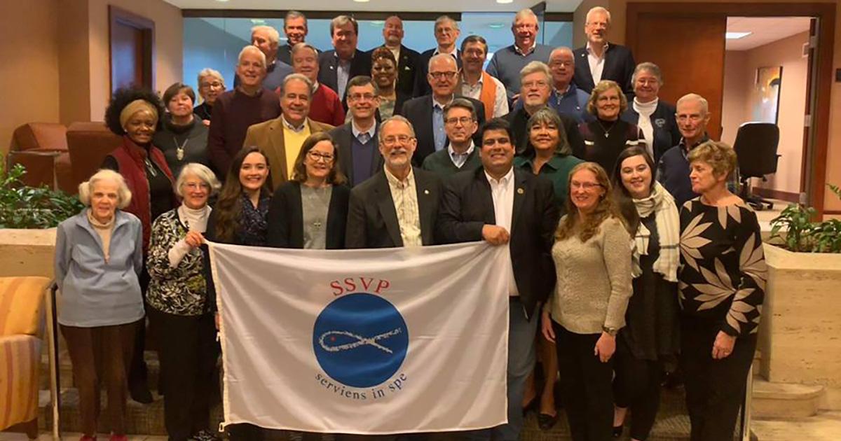 El Presidente General de la Sociedad de San Vicente de Paúl visitó los Estados Unidos