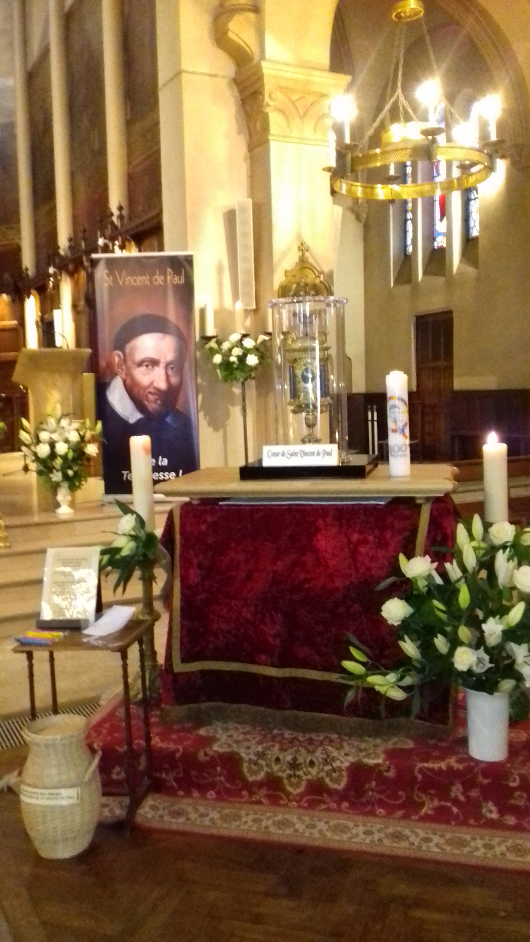 Cœur de St Vincent à la Paroisse de l'Immaculée Conception – Paris