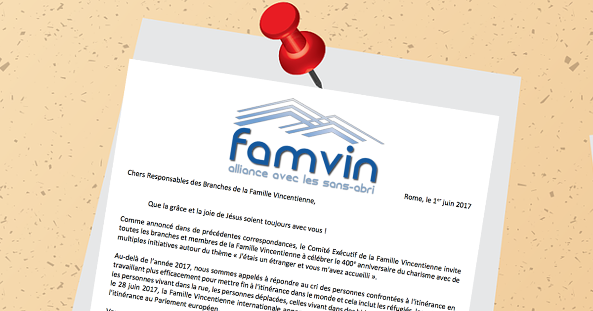 Bulletin: l'Alliance Famvin avec les personnes sans-abris