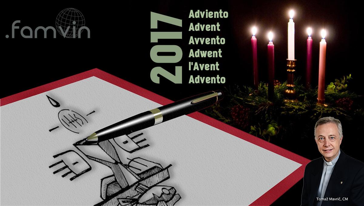 Lettre de l'Avent 2017 à la Famille Vincentienne, par le P. Tomaž Mavrič, CM