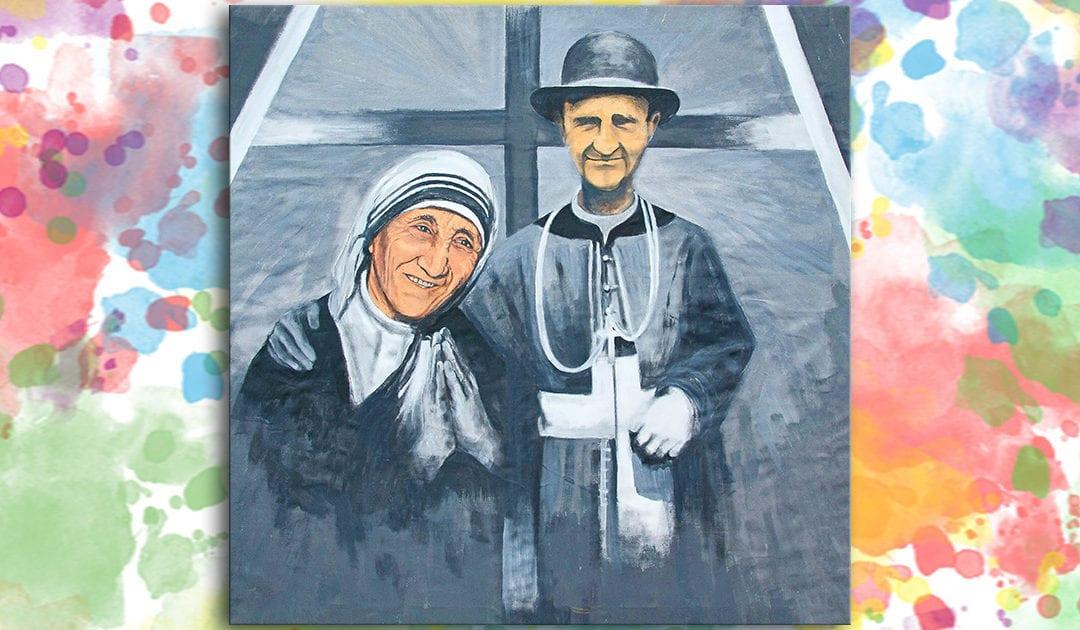 Sainte Mere Teresa de Calcuta et le Serviteur de Dieu, Monseigneur Janez Francisek Gnidovec, prêtre de la mission