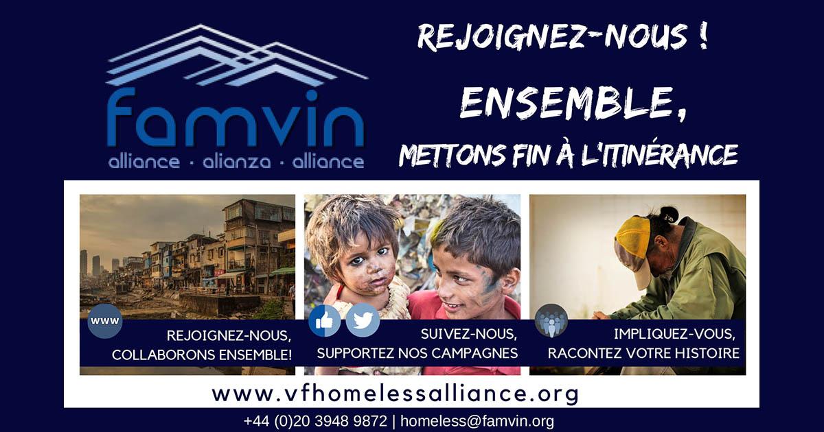 Rejoignez l'Alliance Famvin avec les personnes sans-abri!