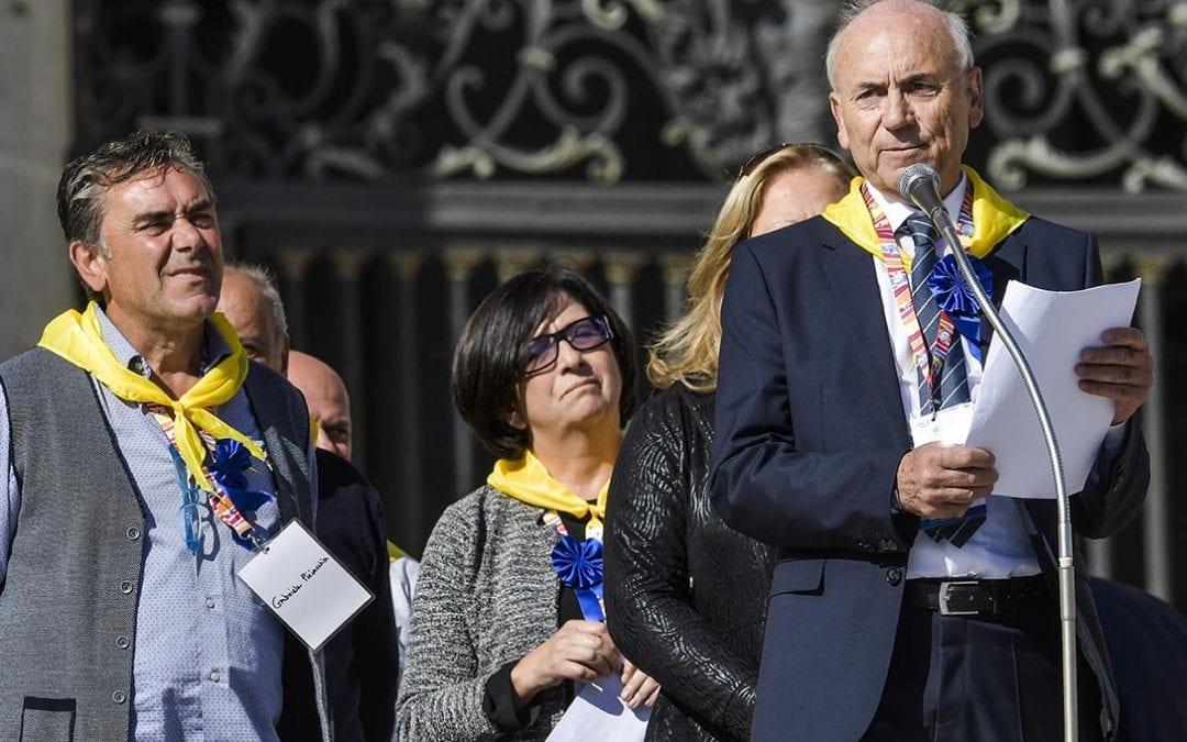 Testimonianza della Società di San Vincenzo de' Paoli, sul Terremoto del Centro Italia, all'udienza durante il Simposio