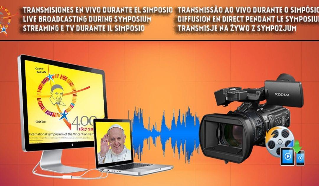 Streaming e TV durante il Simposio il 14 e 15 ottobre