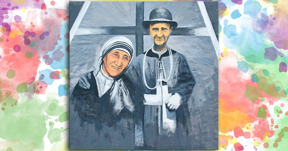 Santa Teresa di Calcutta e il Servo di Dio, il Vescovo Janez Frančišek Gnidovec, CM
