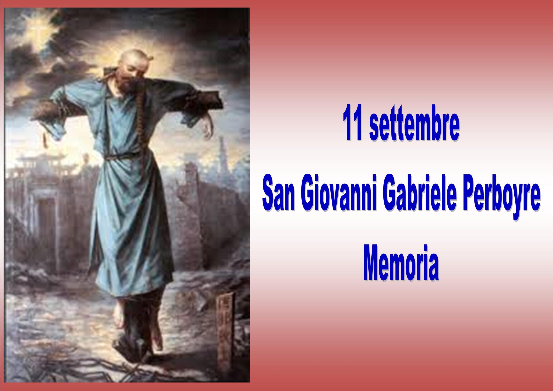11 settembre: San Giovanni Gabriele Perboyre