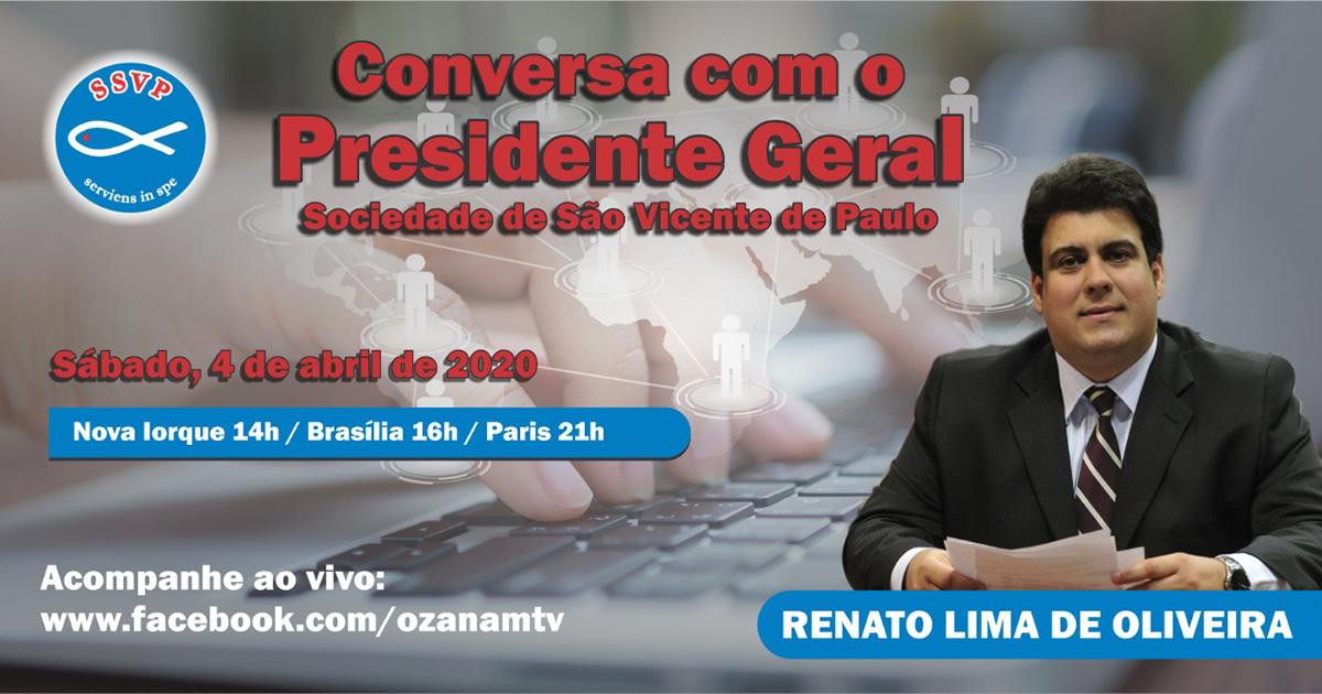 """Não perca o 3ª Programa """"Conversa com o Presidente Geral da Sociedade de São Vicente de Paulo""""!"""
