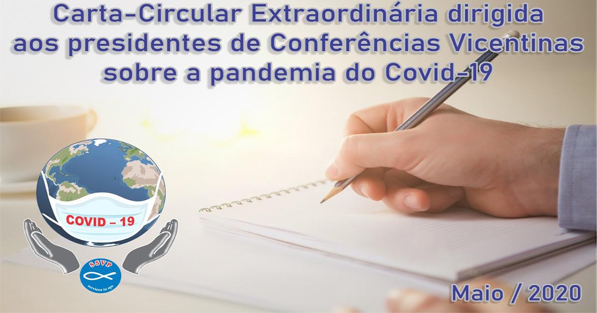 Presidente-geral da SSVP publica uma carta extraordinária sobre a pandemia de Covid-19